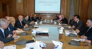 لقاء وزير الإنتاج الحربى ووزير التعليم العالى